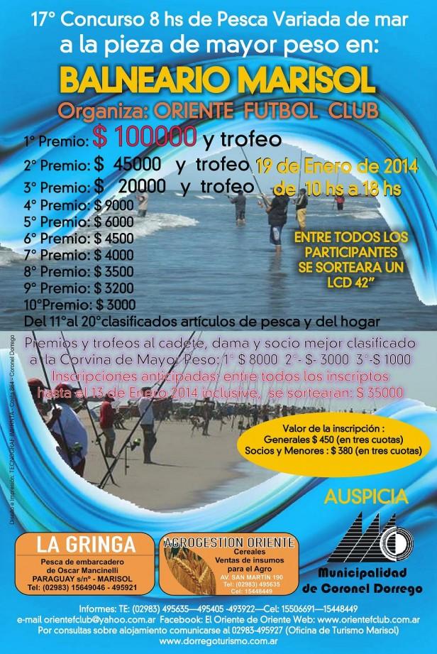 Confirman el concurso de pesca de Marisol