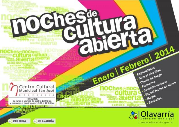 """Continúan las  """"Noches de Cultura Abierta"""" en el Centro Cultural Municipal """"San José"""