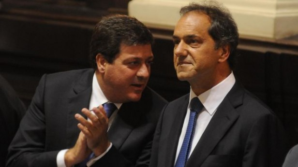 Scioli y Mariotto en Azul