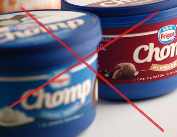 Retiro de la crema helada Chomp de Frigor