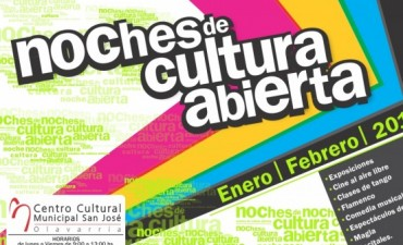 Continúan las Noches de Cultura Abierta en el Centro Cultural Municipal San José