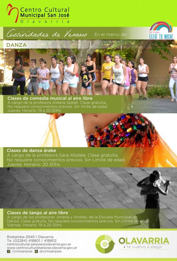 Propuestas de la Escuela Municipal de Danzas