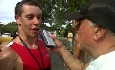 Luciano Tacone ganó el Triatlón en Azul