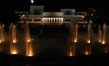 Funciona a pleno la fuente del parque del Bicentenario