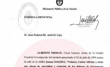 Difunden la denuncia completa de Nisman