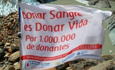 El mensaje de donación voluntaria de sangre llegó a al punto más alto de América