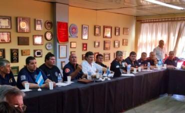 Referentes de más de 35 destacamentos de bomberos deliberaron en Olavarría
