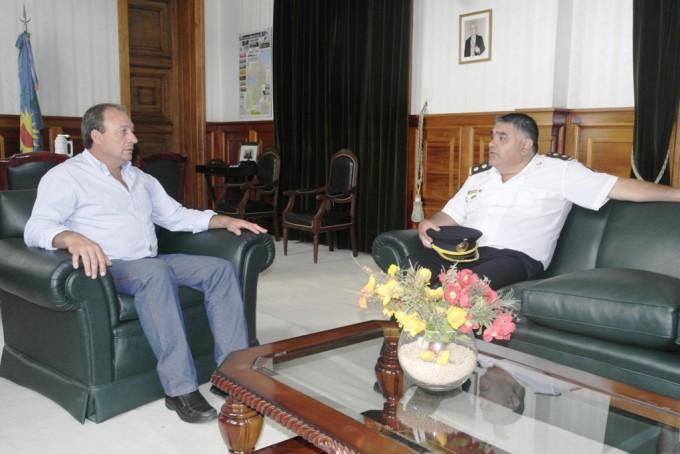 Alvear: el intendente recibió al flamante delegado Departamental de Policía Científica