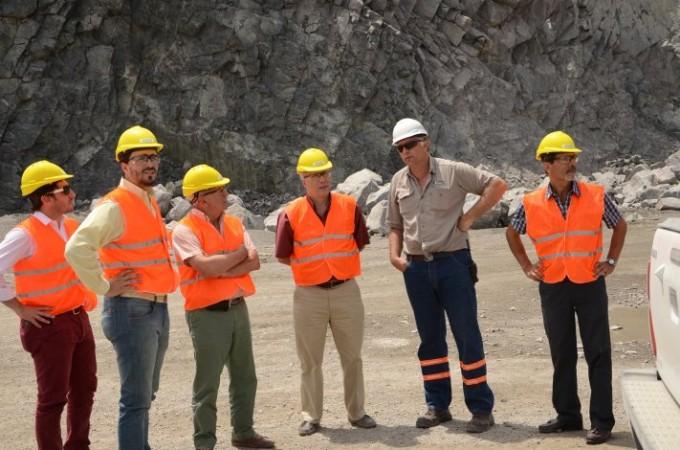 Minería: Visita de Alberto Salmuni y Luis Diez