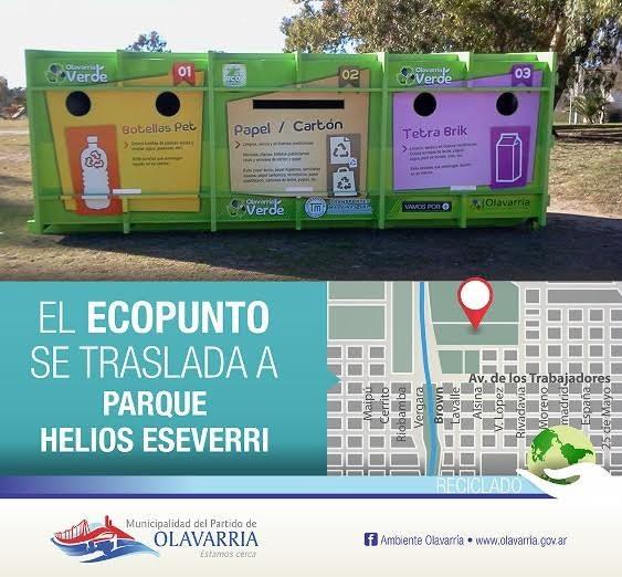 Este mes el Ecopunto se traslada al Parque Helios Eseverri