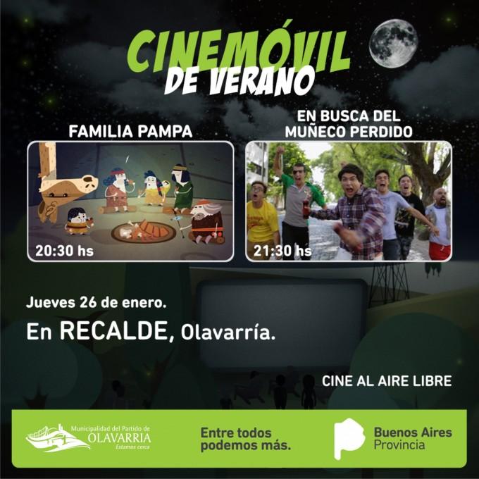 Cinemóvil en Recalde