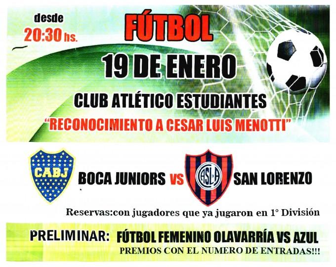 Municipales: entradas para un partido de fútbol