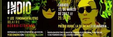 El lunes salen a la venta las entradas para el recital del Indio en Olavarría