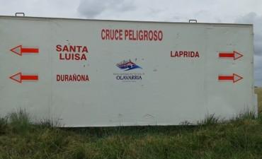 Se realizaron trabajos de señalización en Durañona