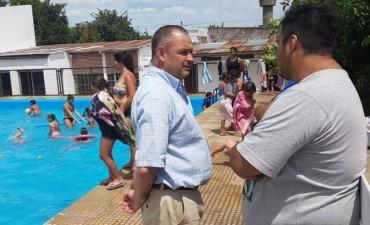 """Alvear: Cellillo visitó el Club Pescadores donde se desarrolla el Programa """"Escuelas Abiertas de Verano"""""""