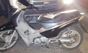 Recuperan otra moto robada
