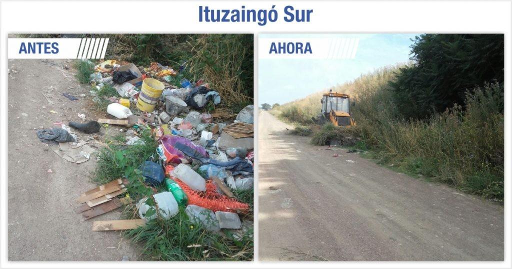 Trabajos de limpieza en Ituzaingó Sur