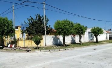 Avanza la obra de pavimentación en Sierra Chica