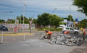 Comenzó la construcción de mesetas en Del Valle y Urquiza