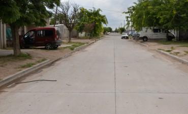 La pavimentación en Sarmiento Norte beneficiará a más de 400 vecinos