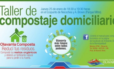 Este jueves se desarrolla el taller de compostaje domiciliario