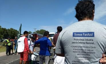 Último día de la semana de cortes de ruta en Azul