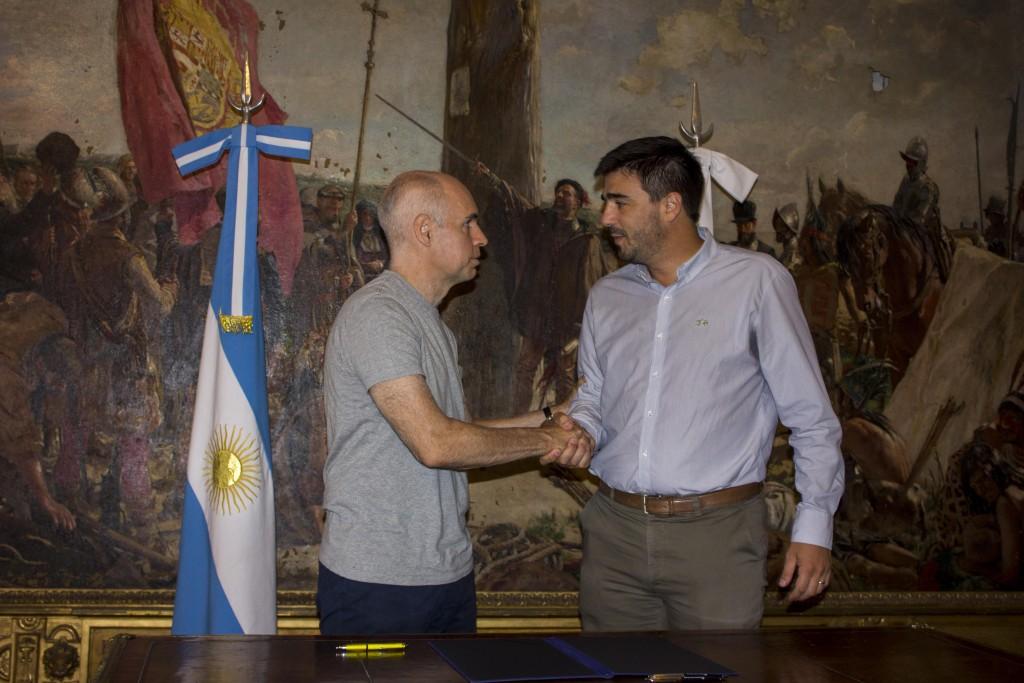 Galli firmó un acuerdo con Rodríguez Larreta para diseñar políticas públicas en conjunto