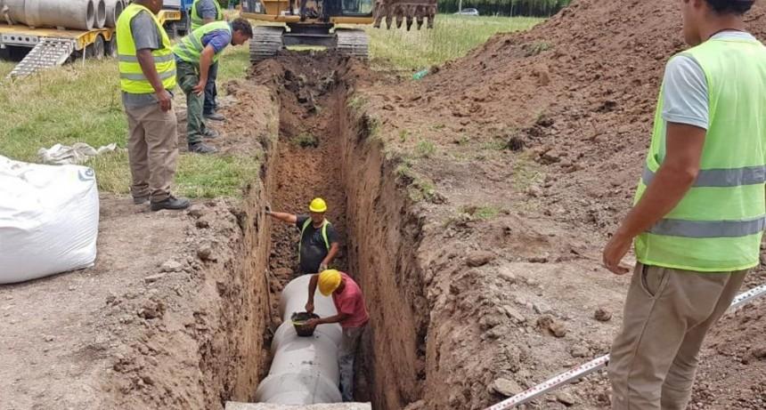 En el barrio San Lorenzo avanza la construcción del nuevo conducto pluvial