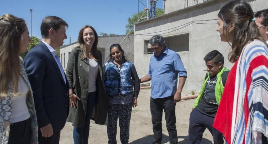 Vidal recorrió distritos del sur y sudoeste bonaerense