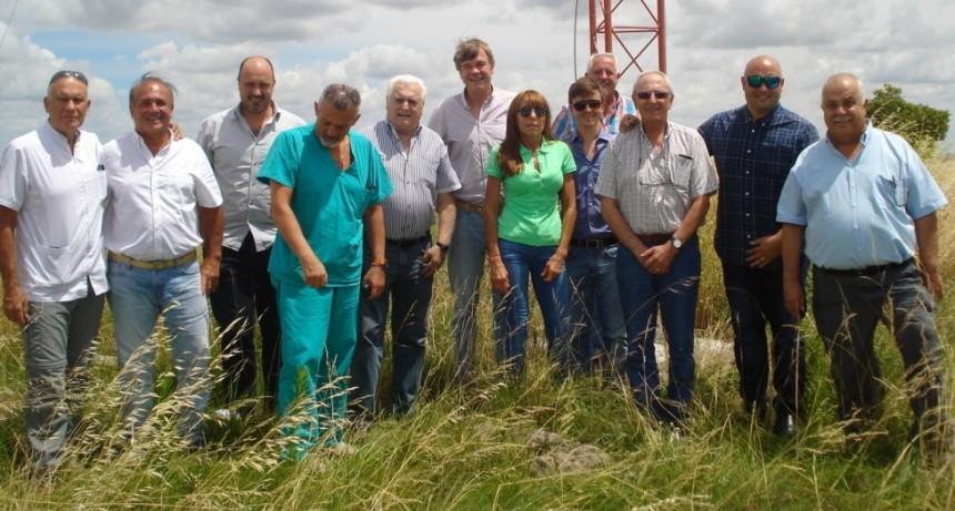 Coopelectric visita la torre de medición de vientos