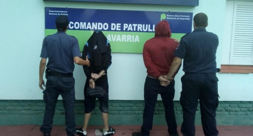 Dos aprehendidos al evadir un control policial