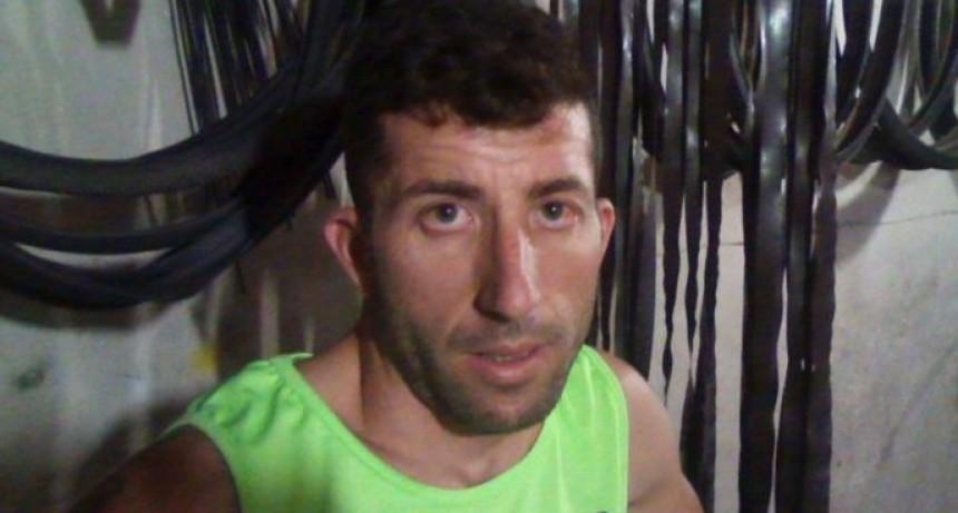 Grave accidente del ciclista olavarriense Esteban Roldán