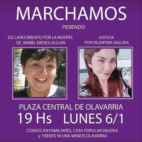 Marchan pidiendo Justicia por Valentina y Mabel