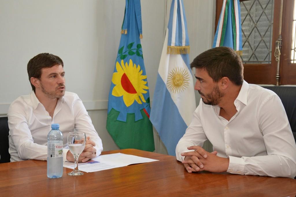 El intendente Ezequiel Galli recibió al Ministro de Producción bonaerense Augusto Costa