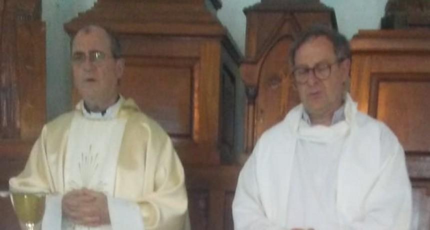El Obispo Salaberry celebró la primera misa del año en la Unidad 2