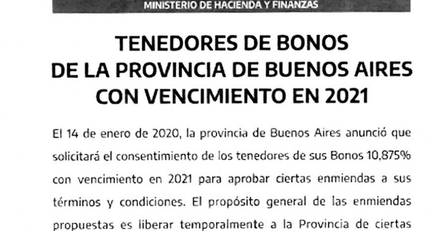 Mientras tanto, la Provincia no hará frente al vencimiento de deuda del 26 de enero