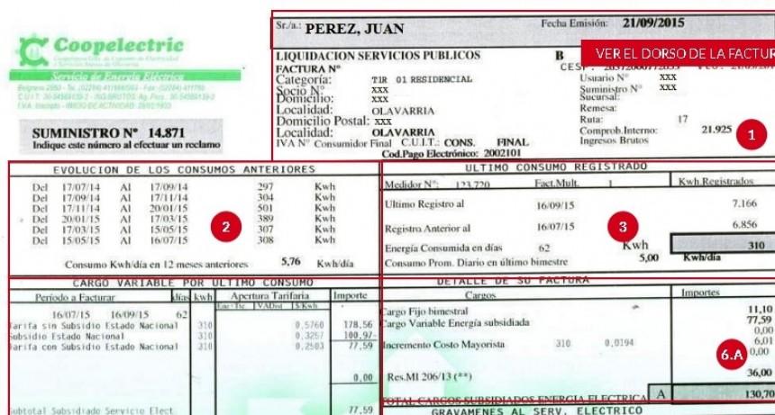 Coopelectric vuelve a cobrar los servicios sociales dentro de la factura