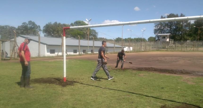 Reacondicionamiento de espacios deportivos en la Unidad 38