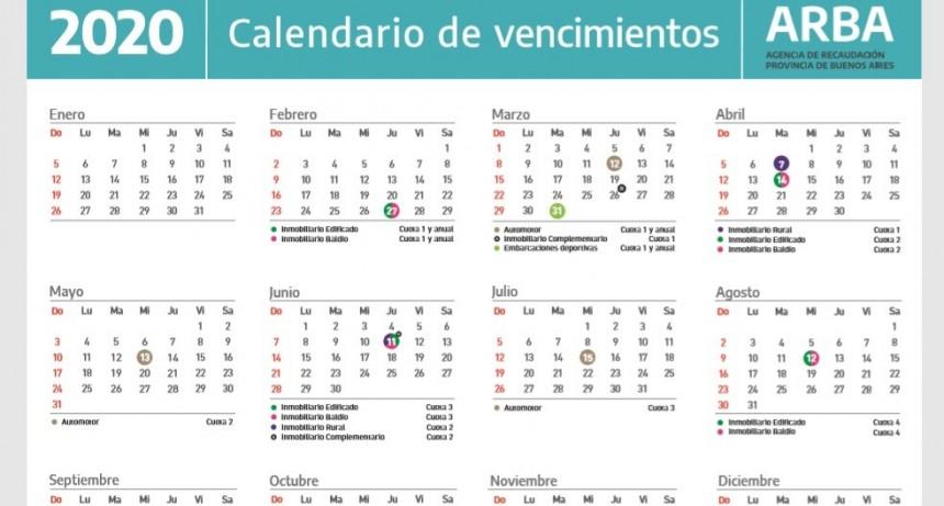ARBA dio a conocer el calendario fiscal 2020