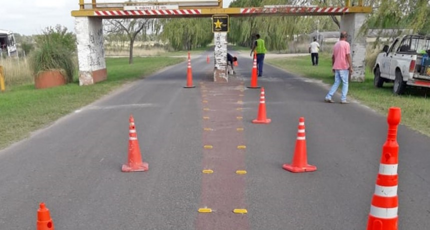 Control Urbano realiza tareas de mantenimiento vial