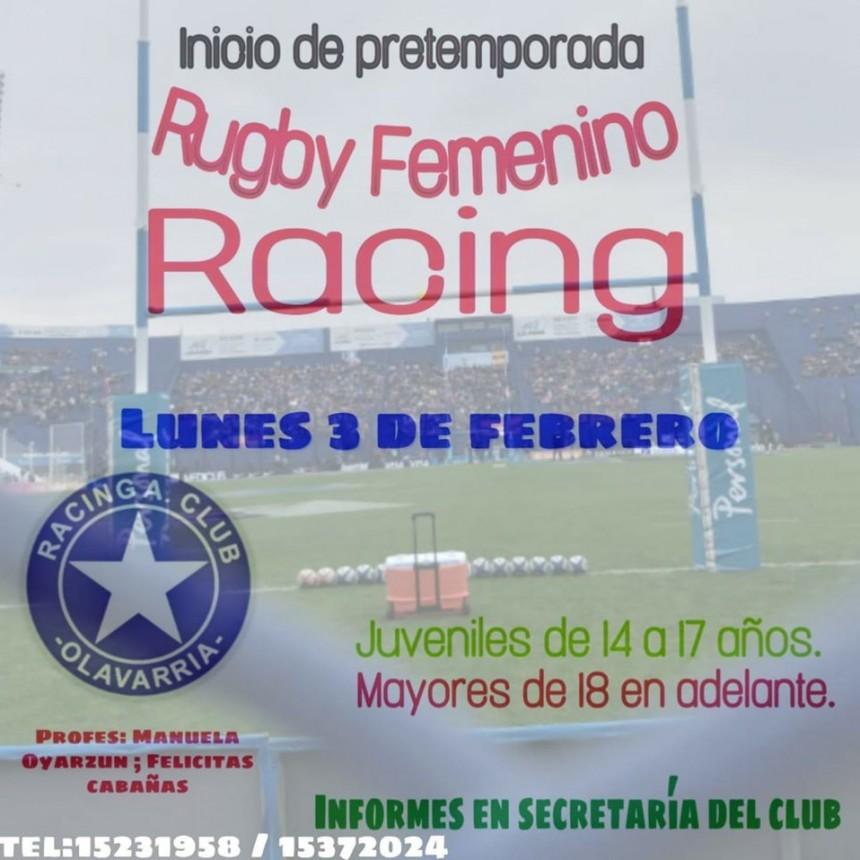 Rugby Femenino: Racing comienza la pretemporada