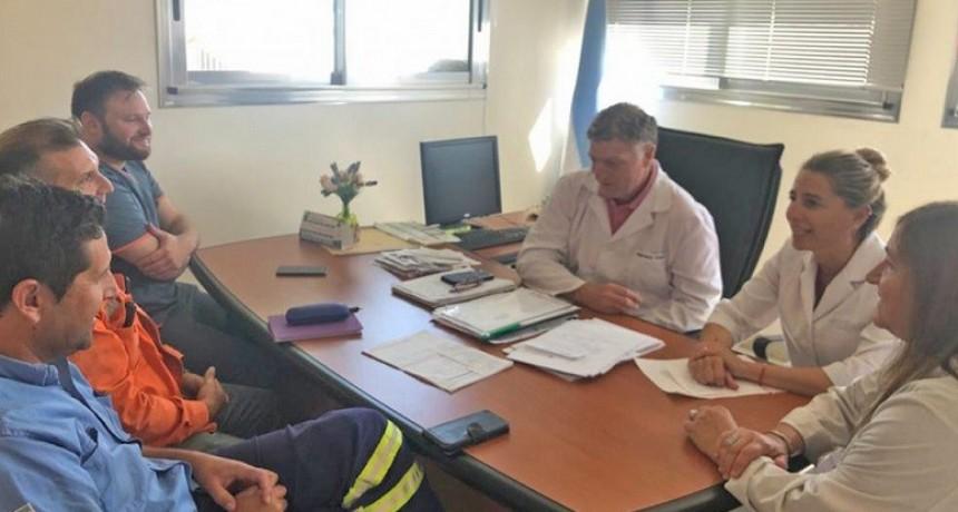 Coronavirus: autoridades de Salud Municipal se reunieron con personal de la empresa Loma Negra