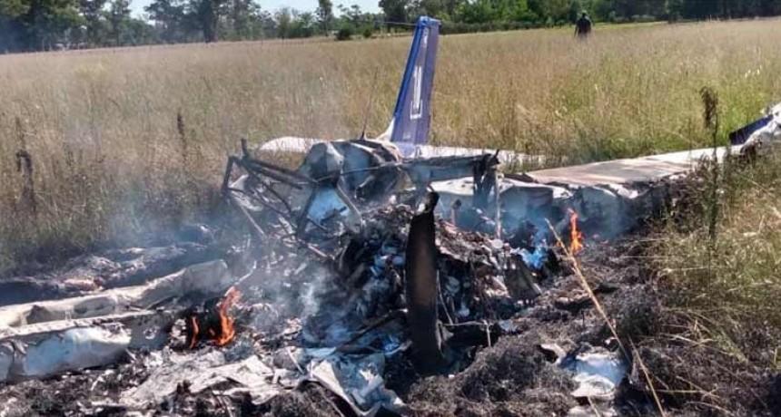 Cayó un avión en Cañuelas: dos muertos