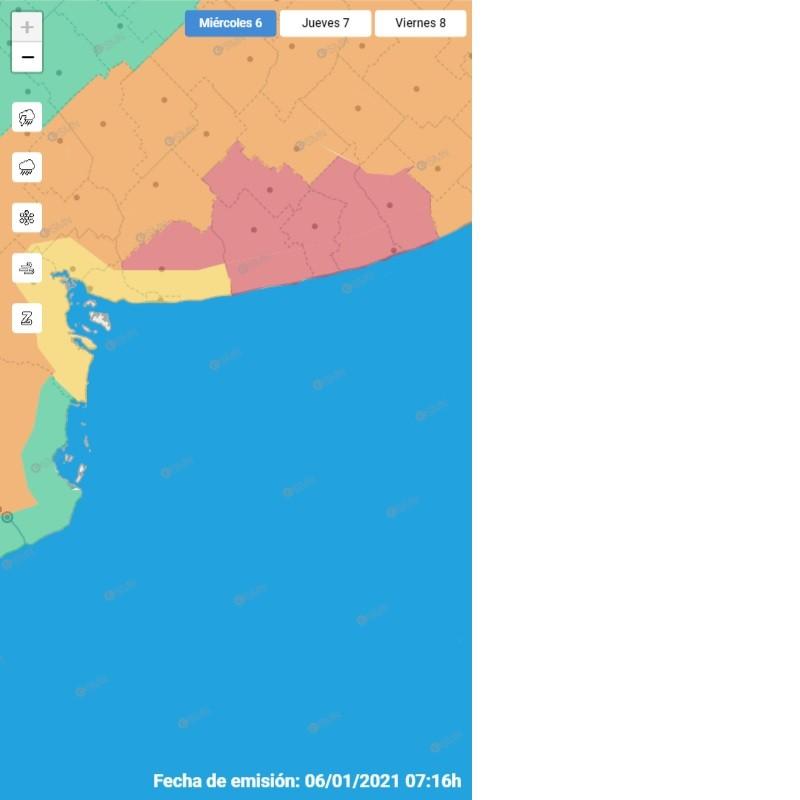 Lluvias: Alerta nivel rojo para el sur bonaerense