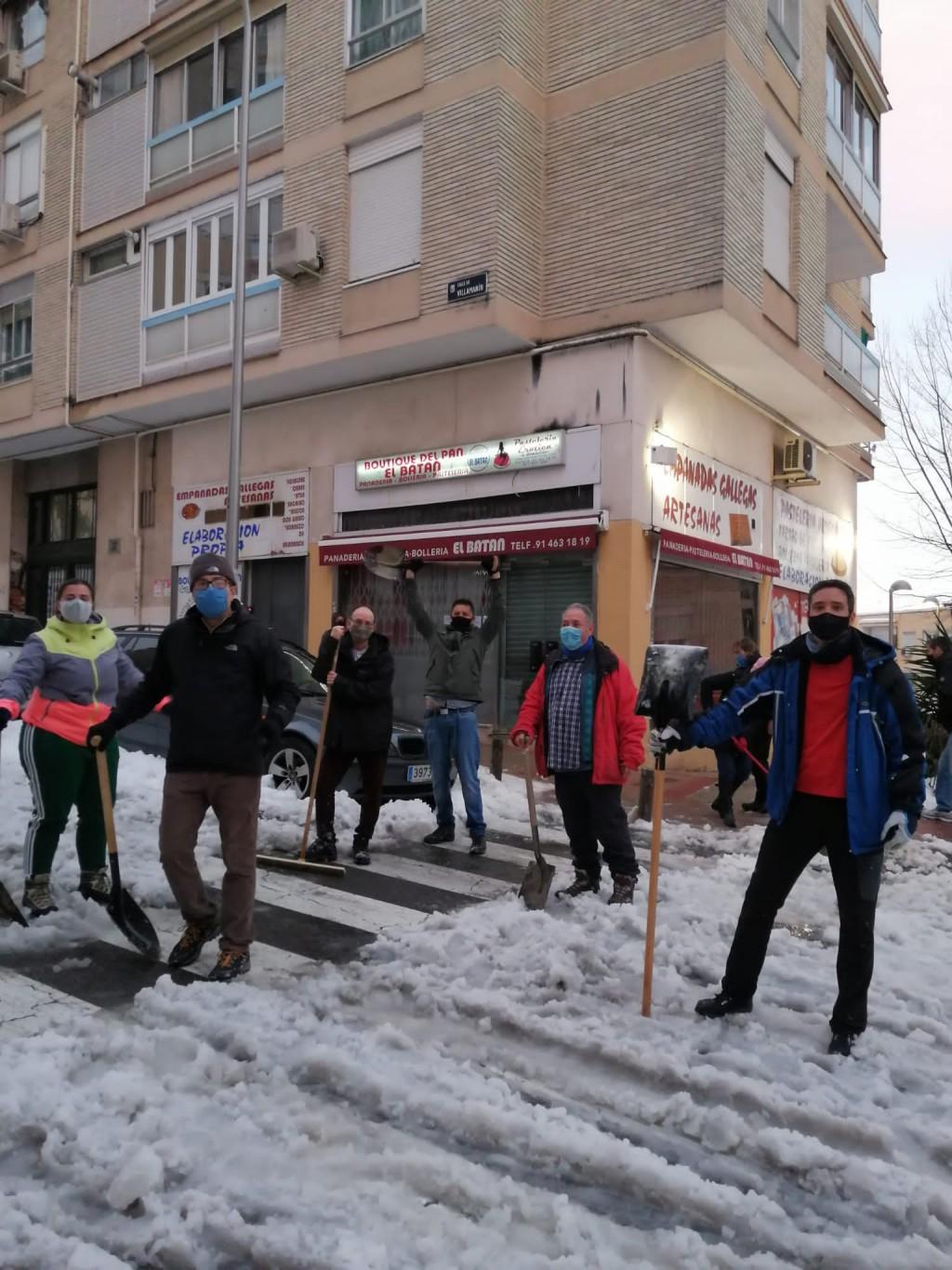 Madrid: 'Entre la pandemia y la nevada, la ciudad está parada'