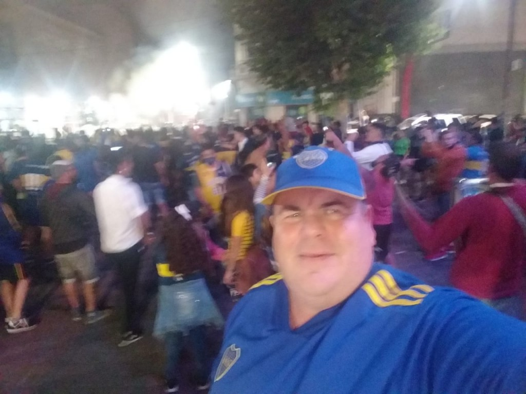 Hinchas de Boca festejaron el título también en Olavarría