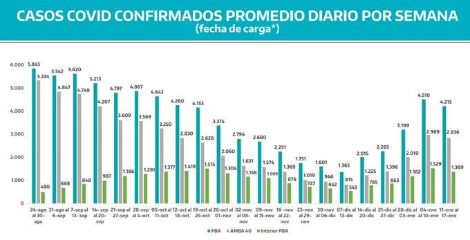 Coronavirus: Caída de casos en Provincia de Buenos Aires