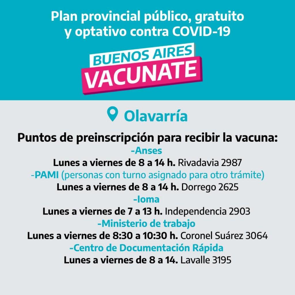 COVID: Se habilitaron nuevos puntos para inscribirse personalmente a la vacunación