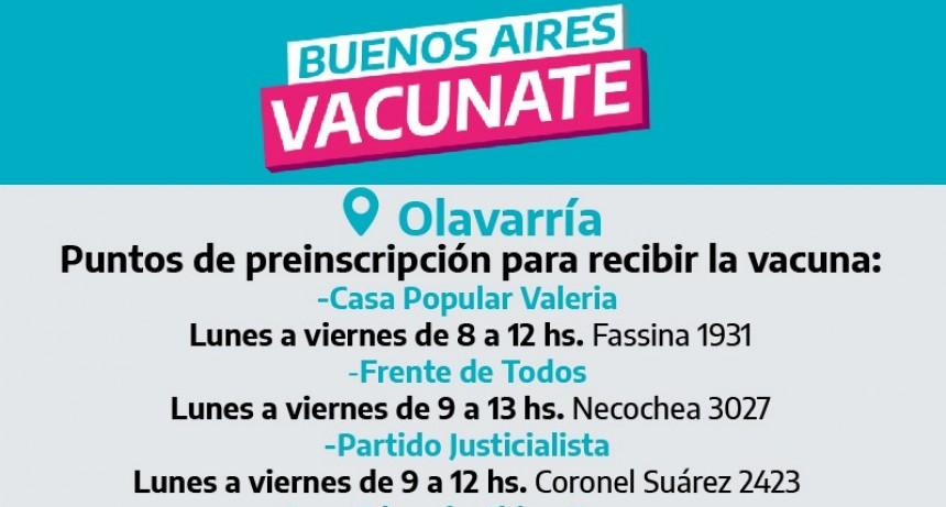 Nuevas sedes habilitadas para la inscripción personal a la vacunación contra el COVID