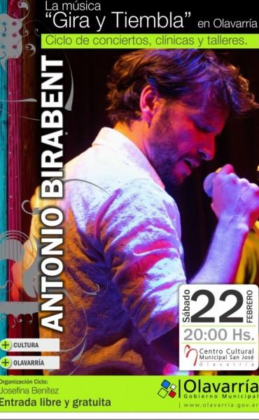 """Olavarría """"Gira y Tiembla"""" con Antonio Birabent"""